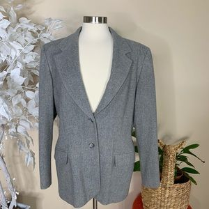 Pendleton Vintage Gray Wool Blazer